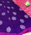 Lichi silk weaving jacquard saree