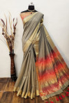 Chanderi cotton saree with zari work