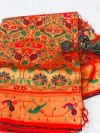 Kanchipuram silk paithani saree
