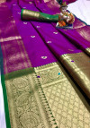 Soft silk weaving saree with zari work