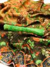 Banarasi kora silk saree with digital printed work