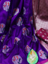 Lichi silk jacquard weaving saree with rich pallu