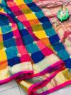 Banarasi weaving silk saree with zari work