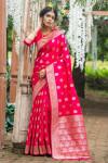 Soft banarasi katan silk saree with zari work