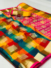 Banarasi weaving silk saree with golden zari work
