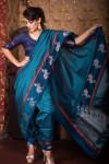 Soft raw silk saree with zari work